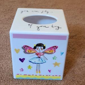 NWT Girls Fairy Tissue box cover.